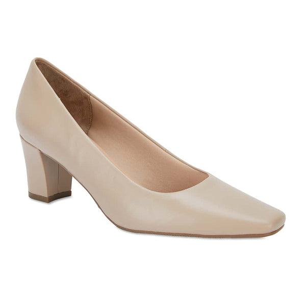 Nicole Heel in Nude Leather