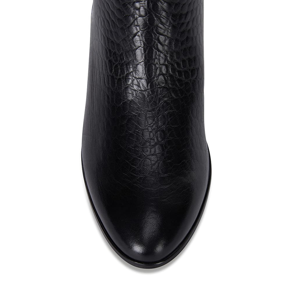 Oath Boot in Black Leather