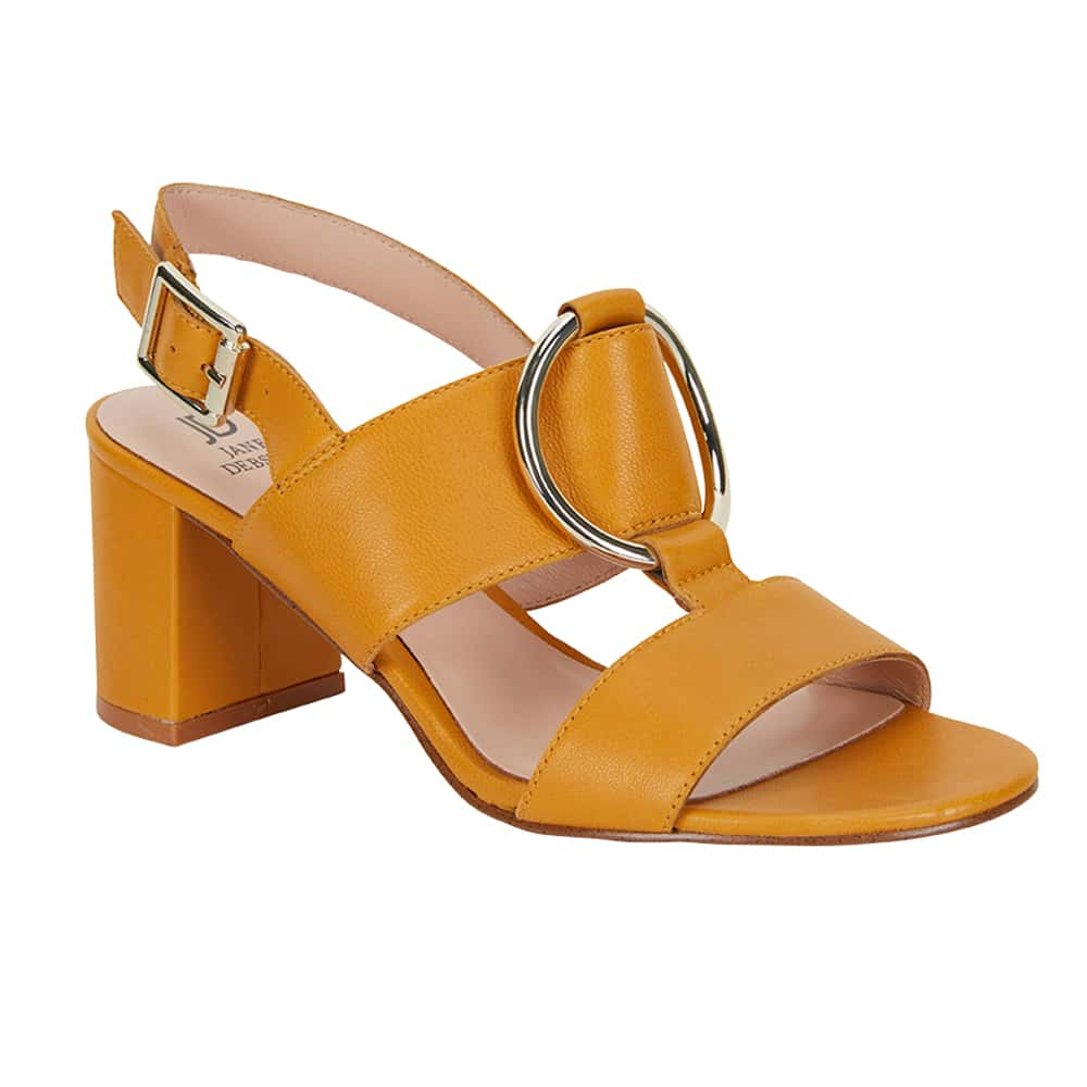 Obsess Heel in Yellow Leather