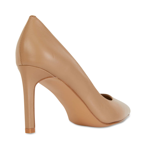 Octavia Heel in Camel Leather
