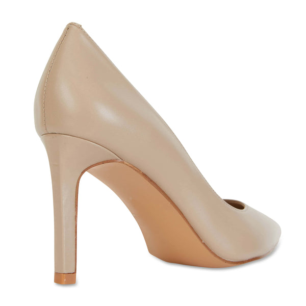 Octavia Heel in Nude Leather