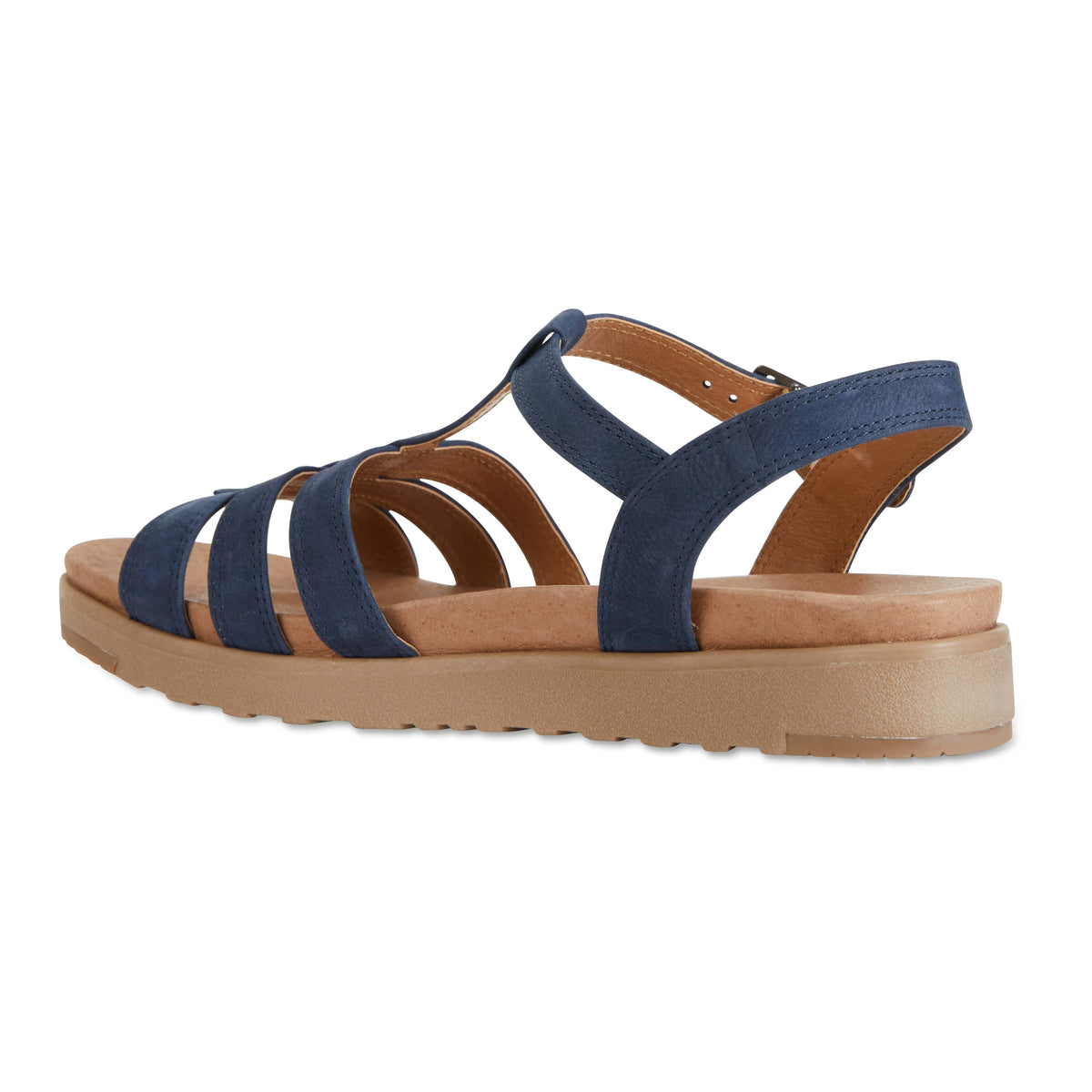 Ohio Sandal in Navy Leather