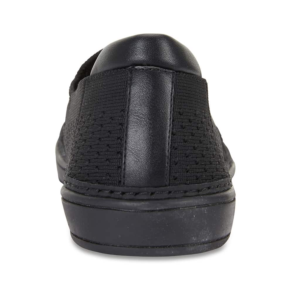 Onyx Loafer in Black On Black Fabric