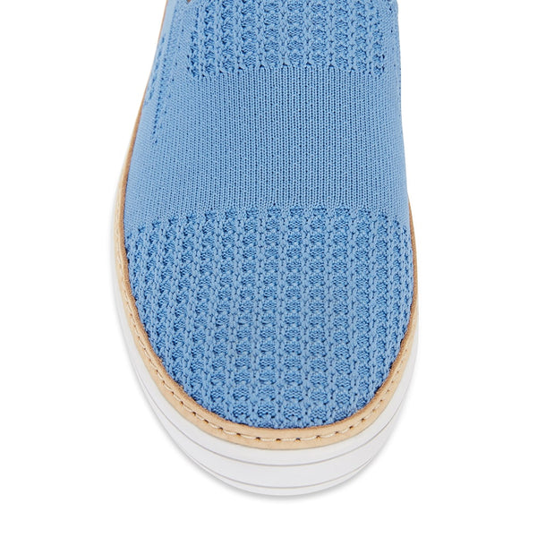 Onyx Loafer in Pale Blue Fabric