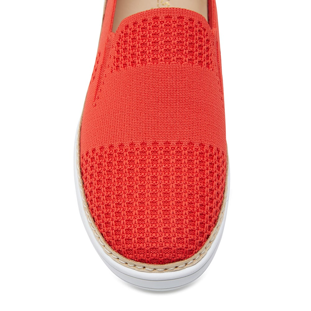 Onyx Loafer in Red Fabric