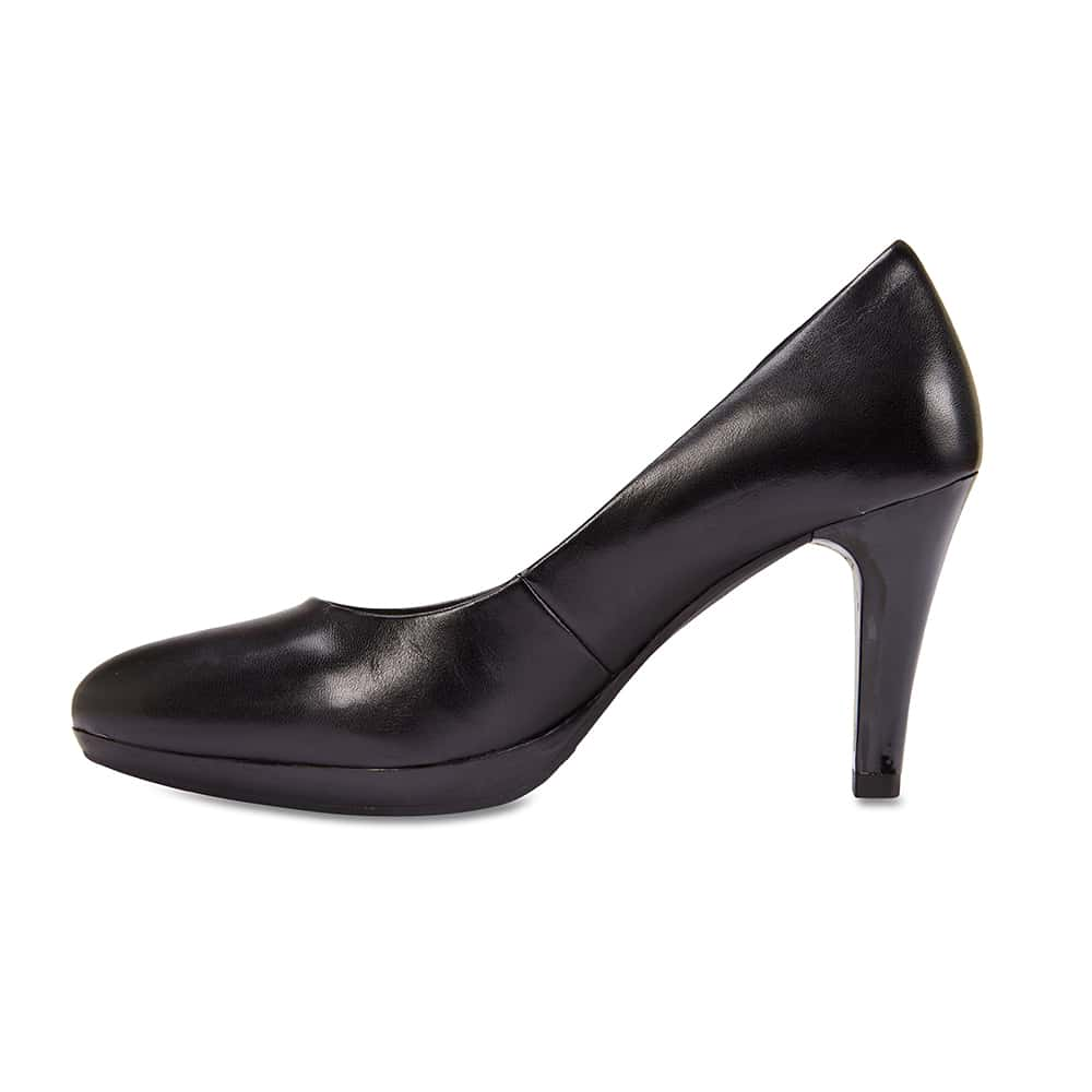 Opus Heel in Black Leather