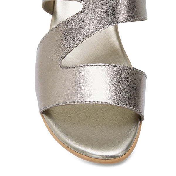 Orchid Heel in Pewter Leather