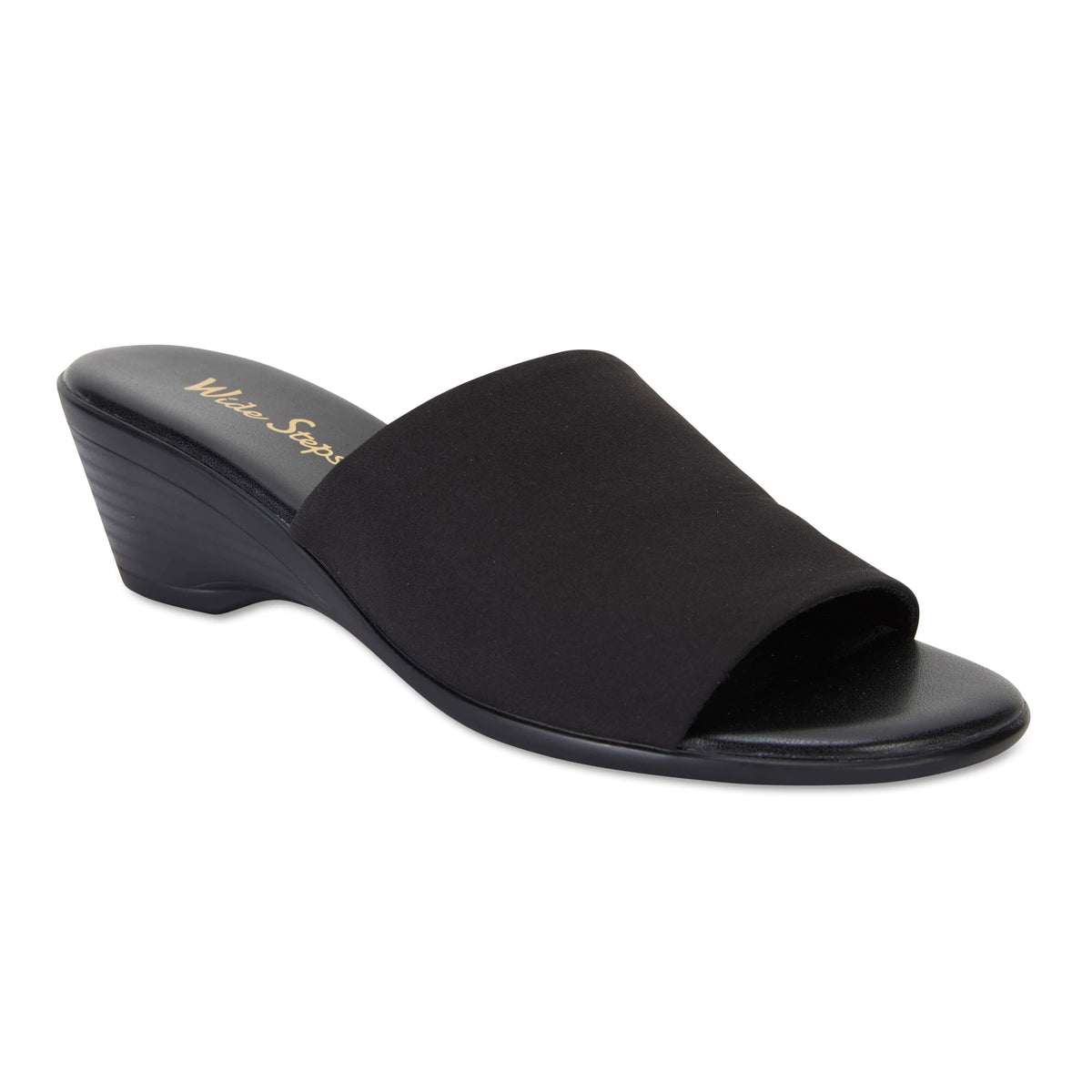 Orient Heel in Black Fabric