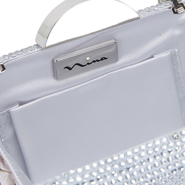 Pacey Handbag in Silver Hard Case