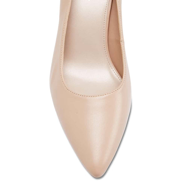 Paige Heel in Nude Leather