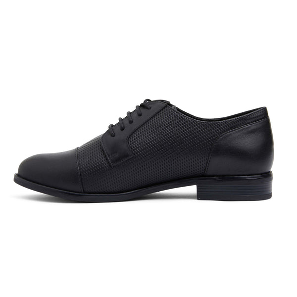Panache Brogue in Black Leather