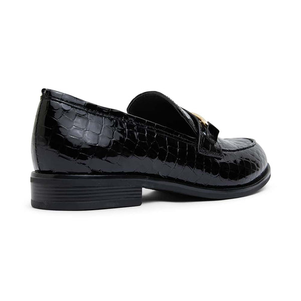 Paragon Loafer in Black Croc Leather