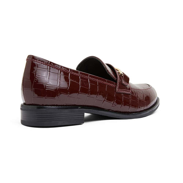 Paragon Loafer in Burgundy Croc Leather