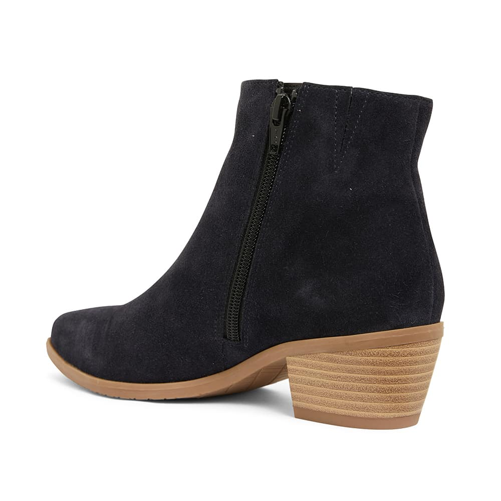 Pascal Boot in Navy Suede
