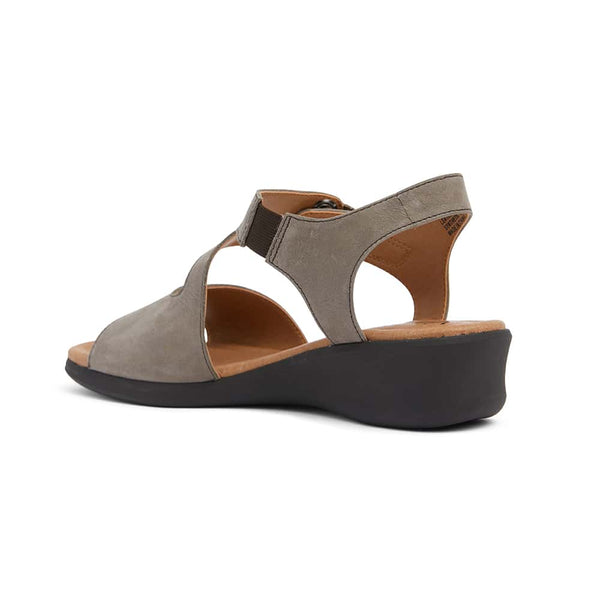 Patty Heel in Grey Leather