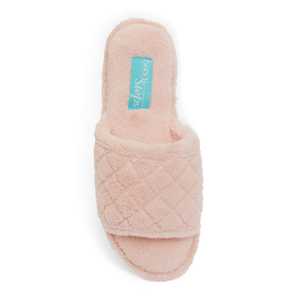 Pearl Slipper in Pink Fabric