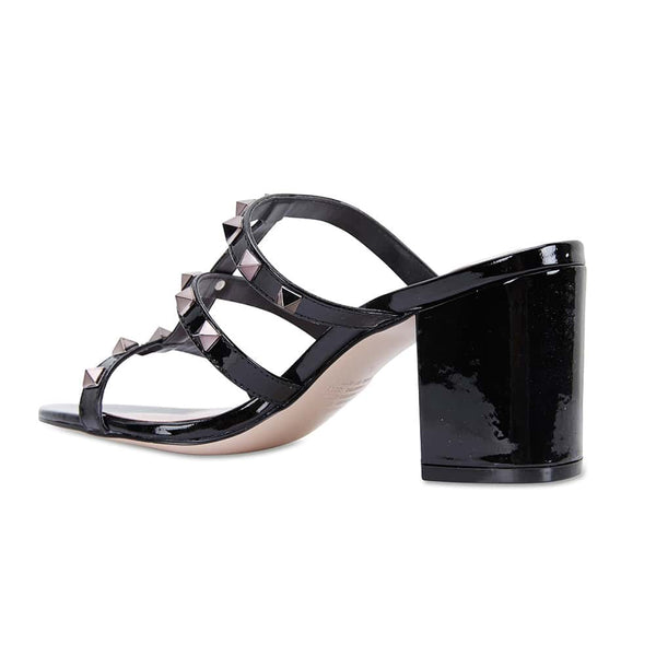 Portugal Heel in Black Patent