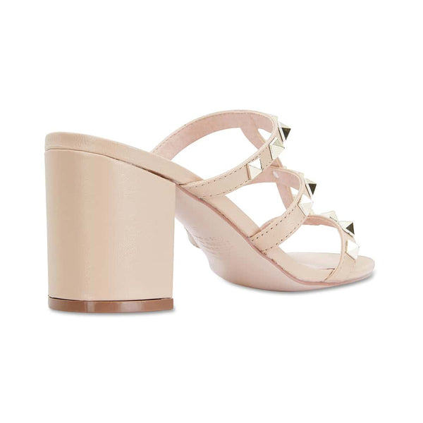 Portugal Heel in Nude Leather