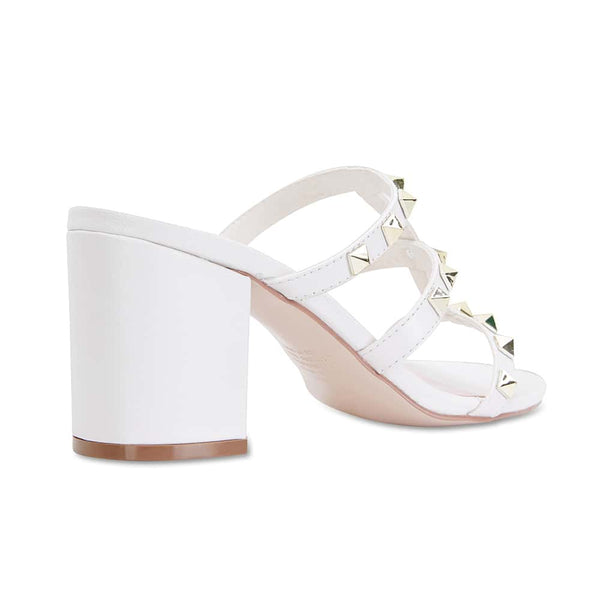 Portugal Heel in White Leather