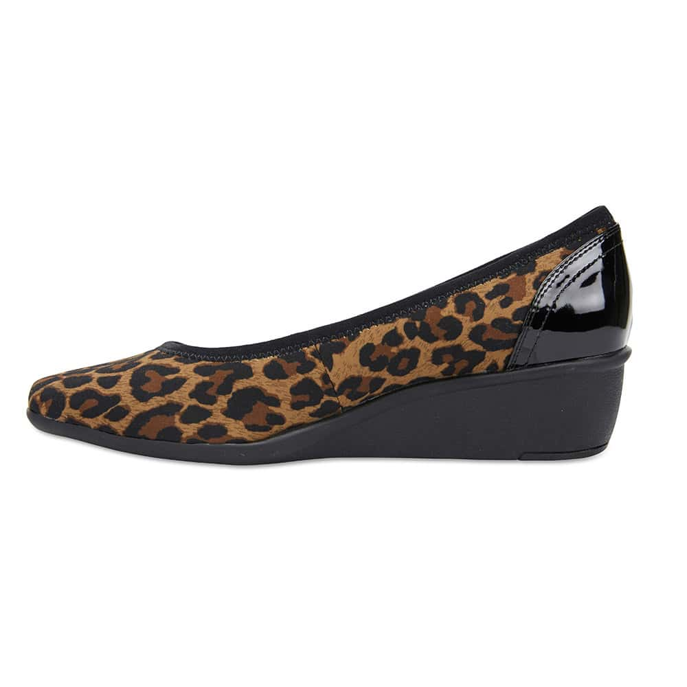 Prague Heel in Animal Fabric