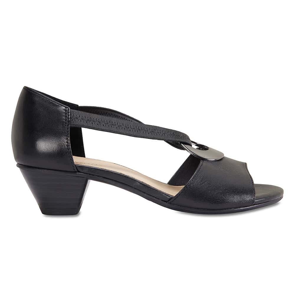 Praise Heel in Black Leather