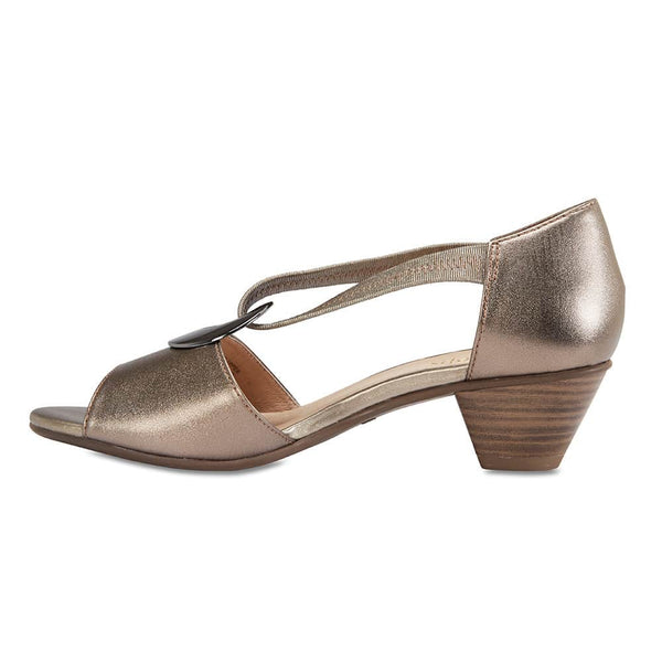 Praise Heel in Pewter Leather