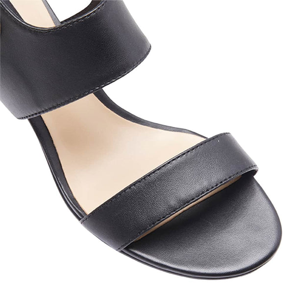 Pride Heel in Black Leather