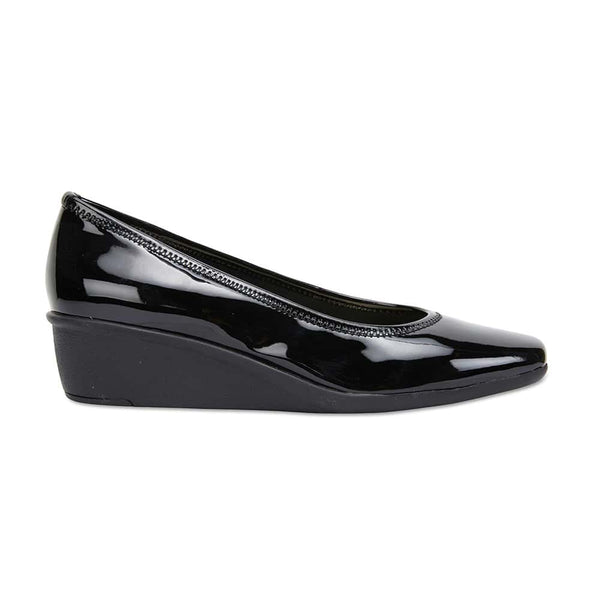Prism Heel in Black Patent