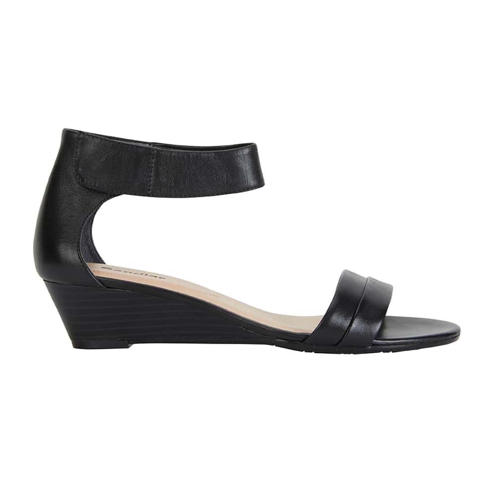 Quartz Heel in Black Leather