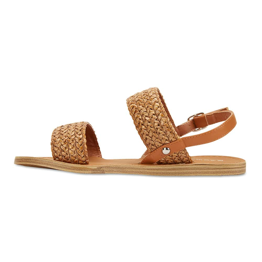 Racer Sandal in Tan Smooth