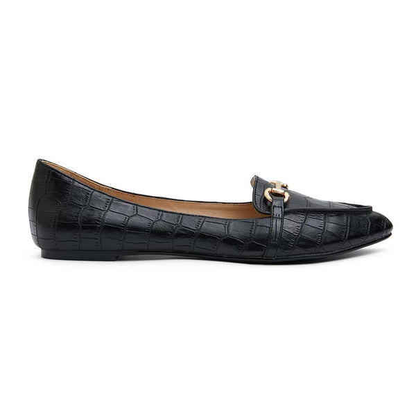 Radical Loafer in Black Croc