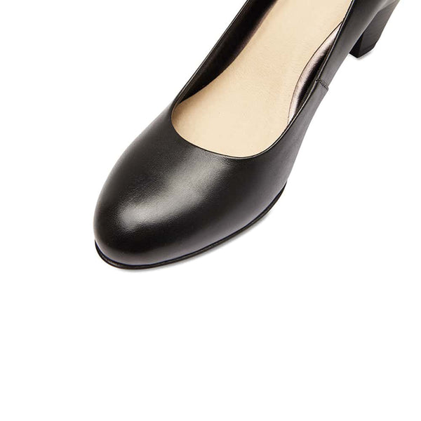 Ragley Heel in Black Leather