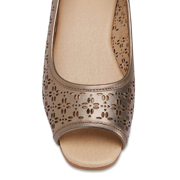 Raine Espadrille in Pewter Leather
