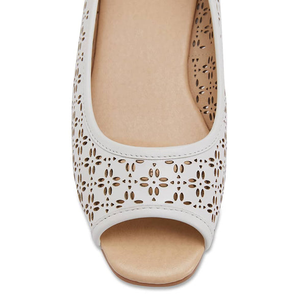 Raine Espadrille in White Leather