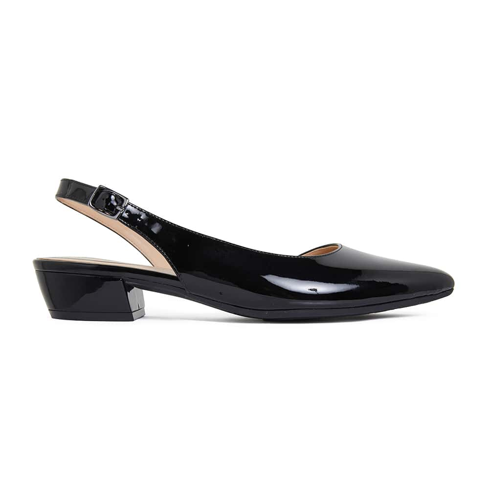 Ramsey Flat in Black Patent