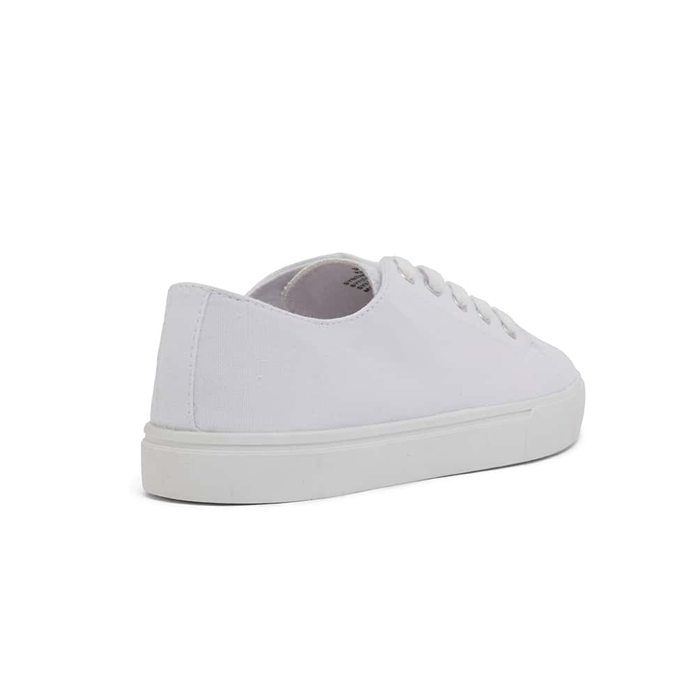 Rave Sneaker in White Canvas