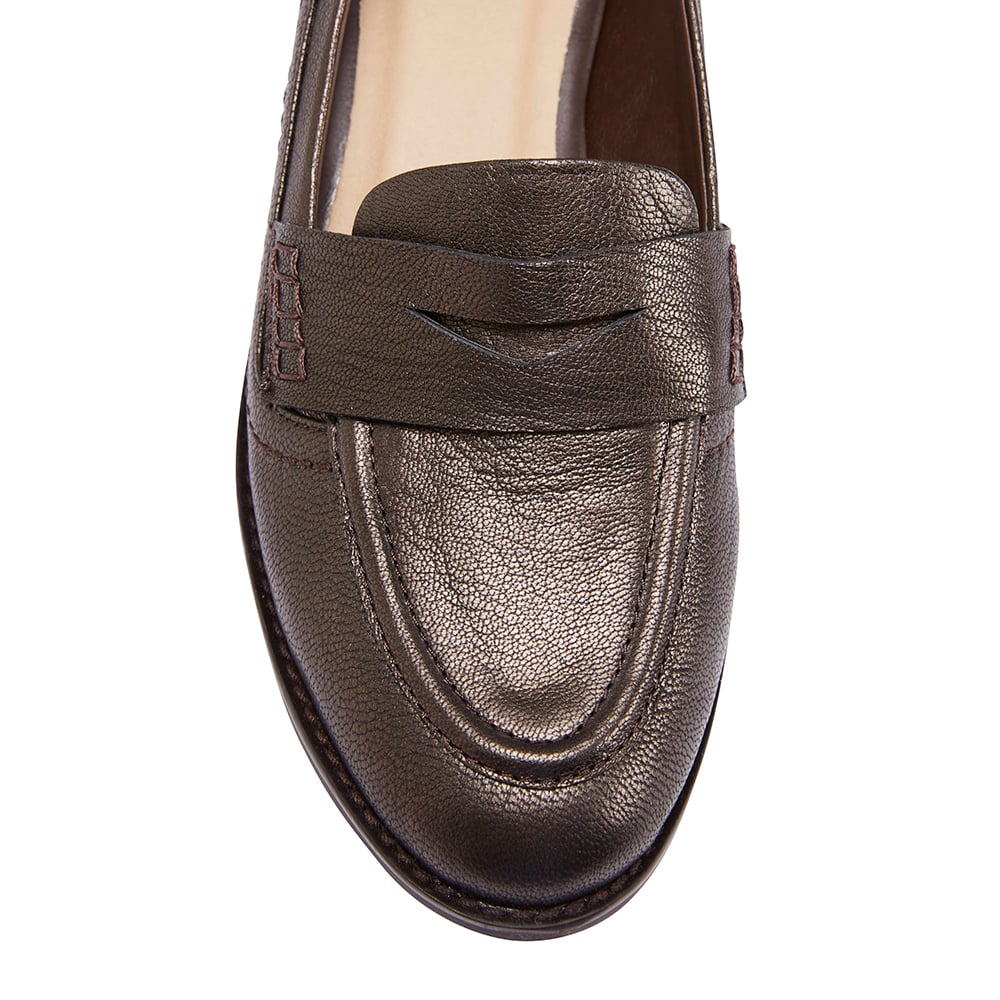 Raven Loafer in Metallic Leather