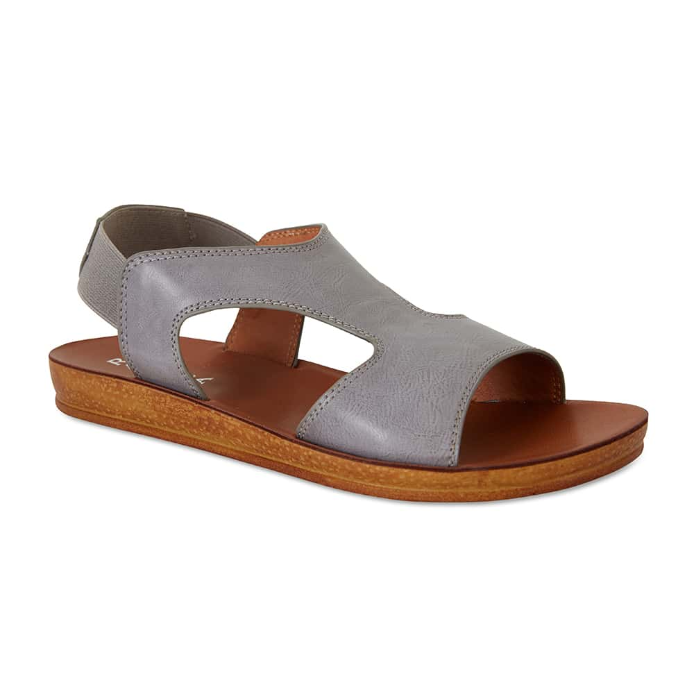 Reigan Sandal in Light Grey Smooth