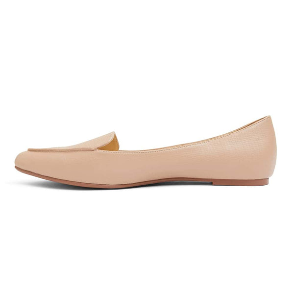 Reno Flat in Nude Lizard