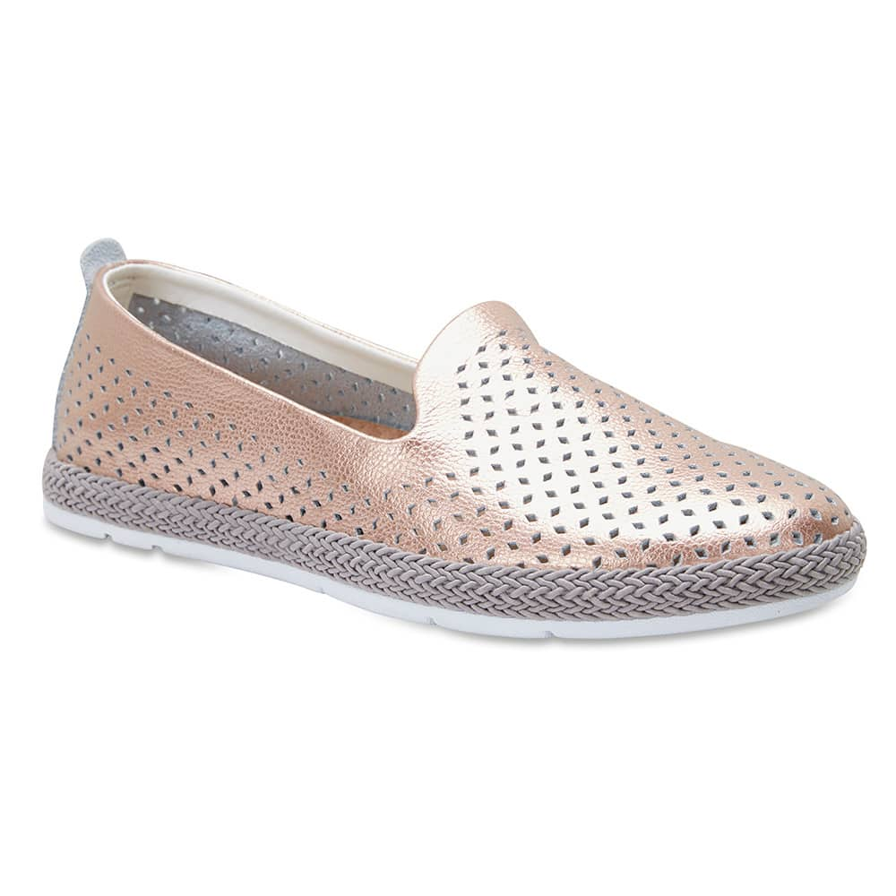 Ricky Loafer in Rose Gold Leather