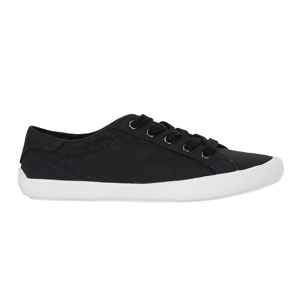 Riddle Sneaker in Black Canvas