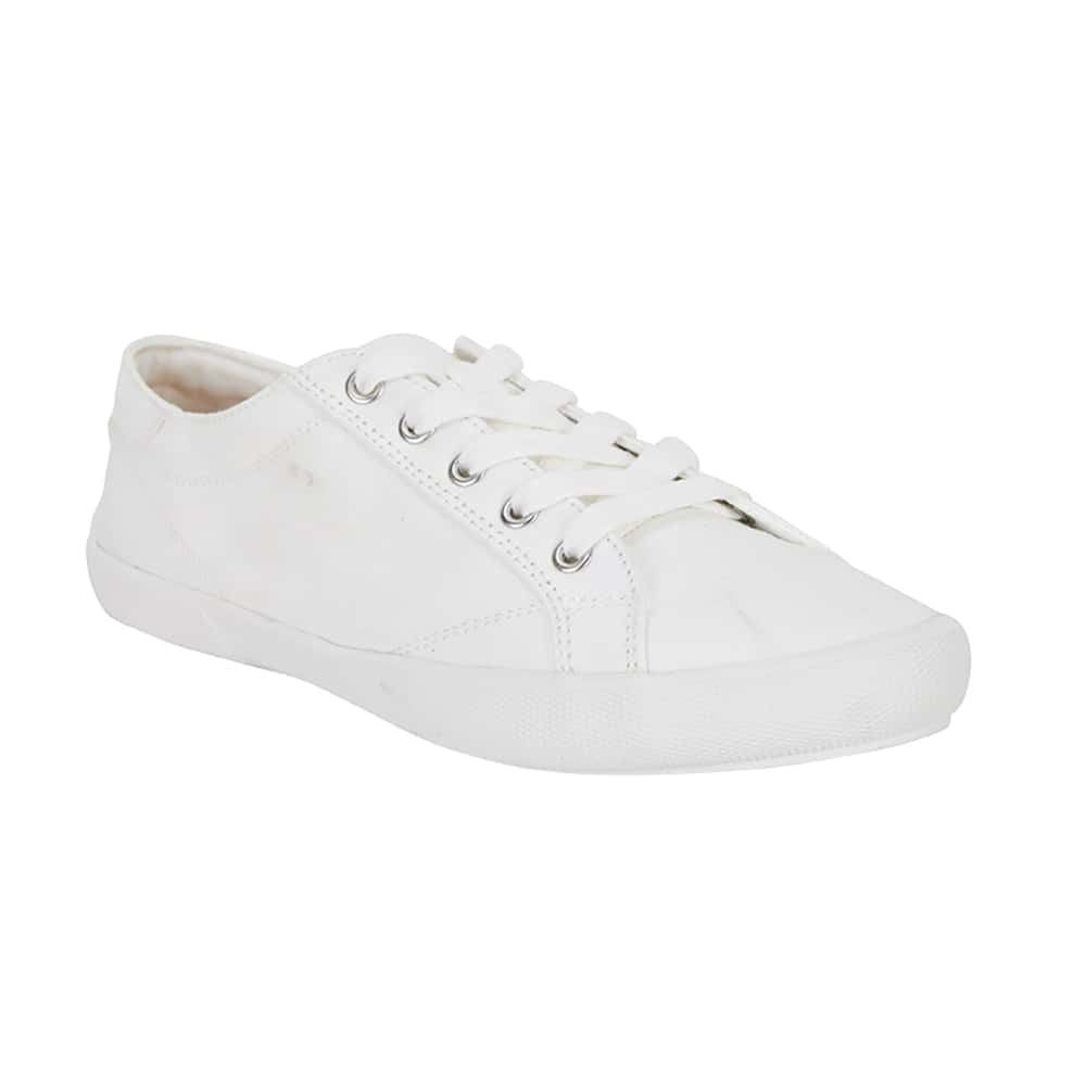 Riddle Sneaker in White Canvas