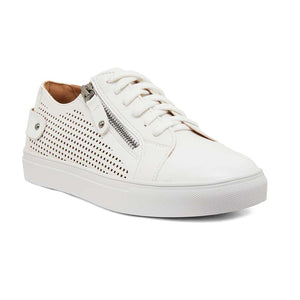 Romeo Sneaker in White Smooth
