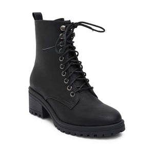 Ronnie Boot in Black Synthetic