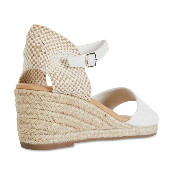Safari Espadrille in White Fabric