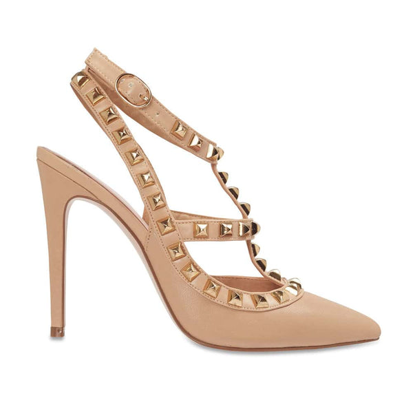 Saint Heel in Nude Leather