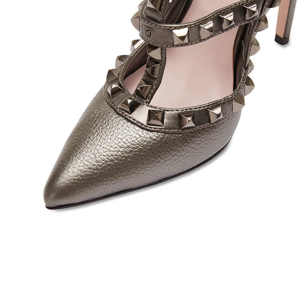 Saint Heel in Pewter Leather