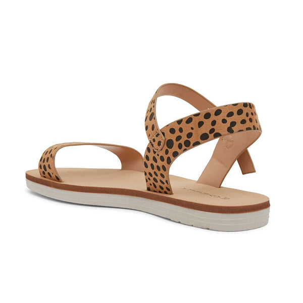 Salem Sandal in Nude Cheetah Smooth