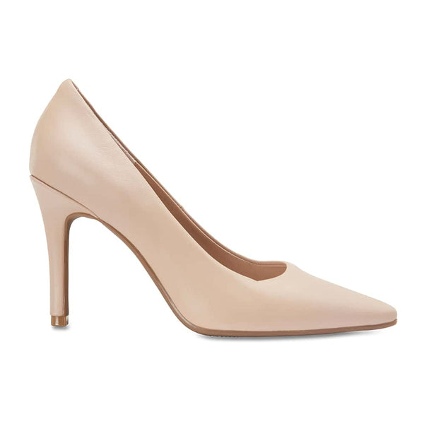 Sally Heel in Nude Leather