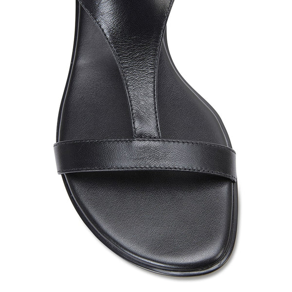 Sandra Sandal in Black Leather